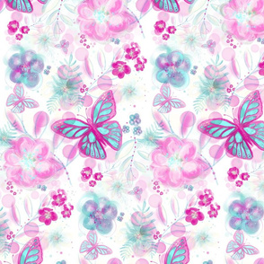 Butterflies among the flowers
