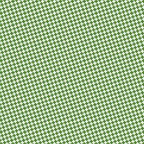 Mini Green Cross on White