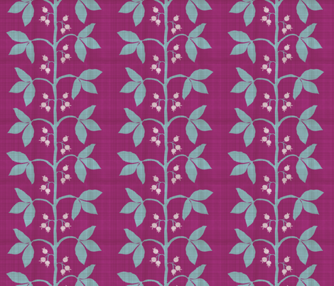 Berry Leaf Stripe Distressed fabric by danika_herrick on Spoonflower - custom fabric
