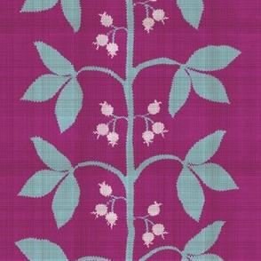 Berry Leaf Stripe Distressed
