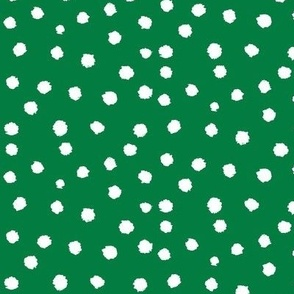 Painted Polka Dot // Kelly Green