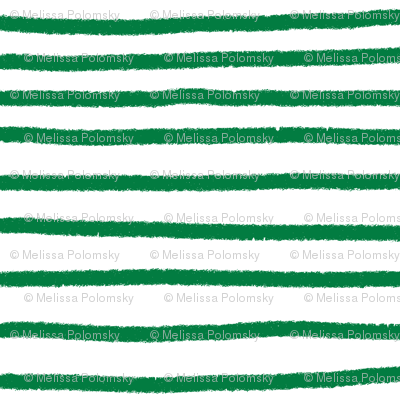 Sketchy Stripes // Kelly Green
