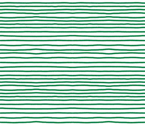 Sketchy Stripes // Kelly Green fabric by theartwerks on Spoonflower - custom fabric