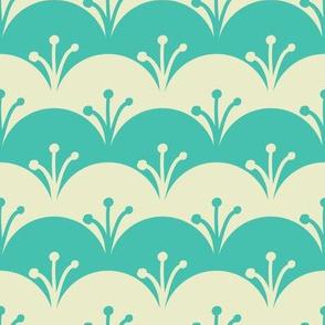 Cyan scales pattern