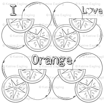 I Love Orange-Food Frenzy-ed