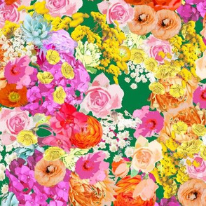 Summer Bright Floral // Kelly Green