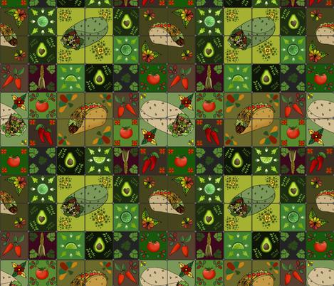 Mexican Restaurant Tiles fabric by irishvikingdesigns on Spoonflower - custom fabric