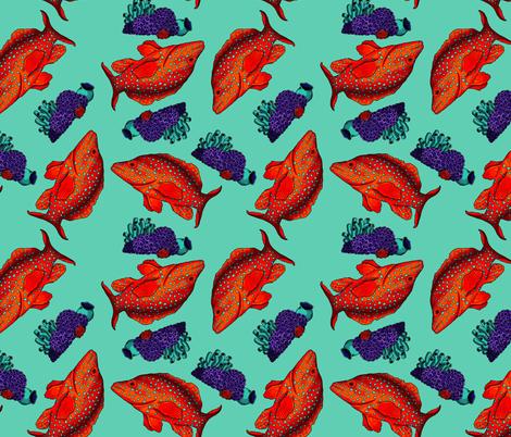 Sea Life fabric by courtney_kmann on Spoonflower - custom fabric
