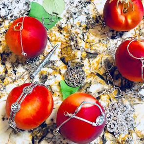 jewelry and peach