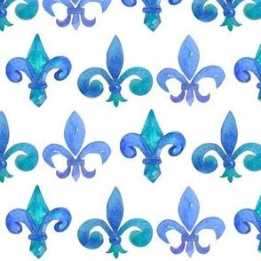 Fleur de Lis in Blue