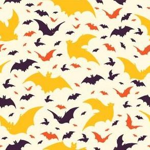 Flying Halloween Bats Vector Pattern