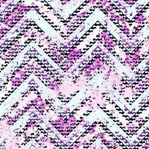 Pink jigsaw puzzle chevron 17_0044