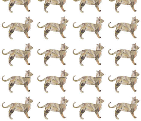 Cafe Latte Cat fabric by katdermane on Spoonflower - custom fabric