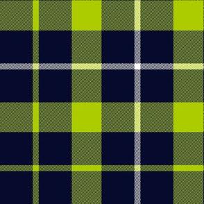 """Davidson of Tulloch tartan, lime-navy variant, 9"""""""