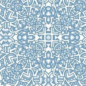 Doodle Medallion 201807C Soft Blue 9in