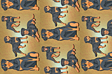 Realistic Rottweilers  fabric by pamg123 on Spoonflower - custom fabric