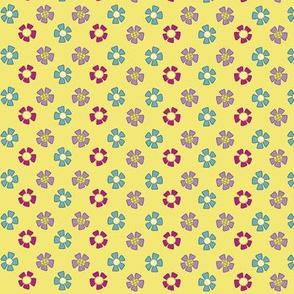 flowers cluster amarillo