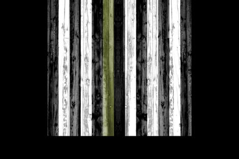 "2 yard cut (54"" width) - thin green line - army  green on black C18BS fabric by littlearrowdesign on Spoonflower - custom fabric"