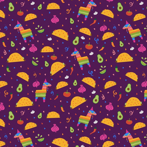 Taco Fiesta in Purple
