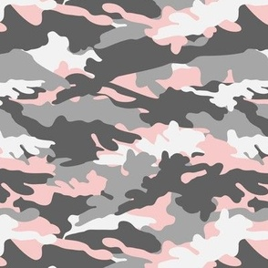 pink and grey camouflage - camo - little lady coordinate