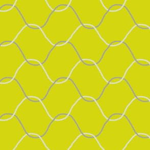 Chickenwire on Lemon Yellow