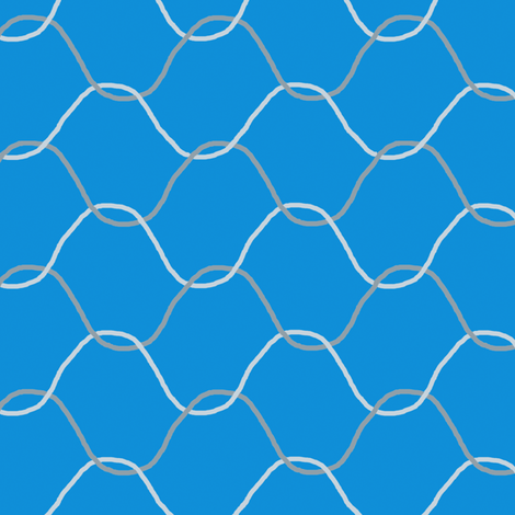 Chickenwire on Sky Blue fabric by eclectic_house on Spoonflower - custom fabric