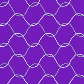 Chickenwire on Purple