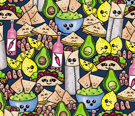 Taco About All I Avo Wanted! fabric by gingerlique on Spoonflower - custom fabric