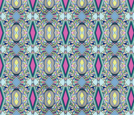 aztec_crossovers_Vector_pendrawn-03 fabric by thepoonapple on Spoonflower - custom fabric