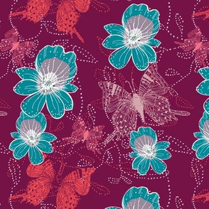 Go tropical purple with teal orchid