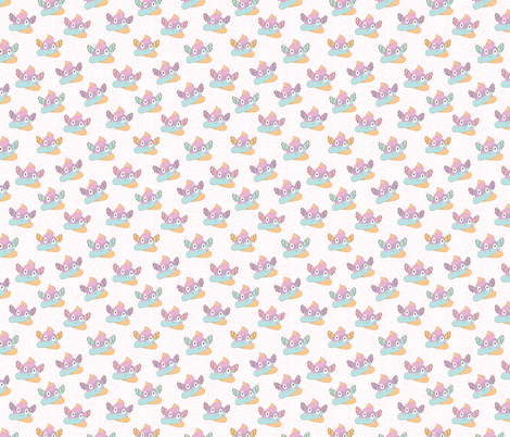 Unicorn Poop White with Pink Speckles fabric by red_raspberry_design on Spoonflower - custom fabric