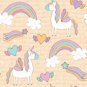Unicorns in Apricot