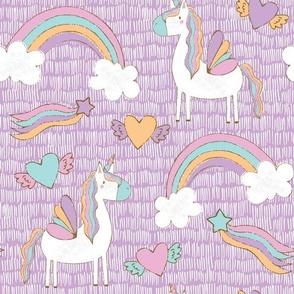 Unicorns in Purple