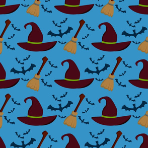 Trick or treat evil halloween scary background.