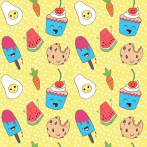funny pattern for kids kawaii style