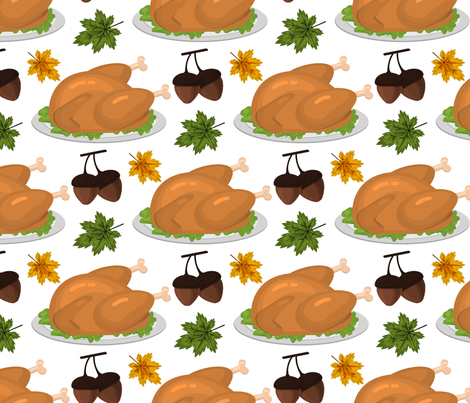 Happy Thanksgiving autumn harvest holiday background. fabric by danira on Spoonflower - custom fabric