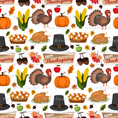 Happy Thanksgiving autumn harvest holiday background.