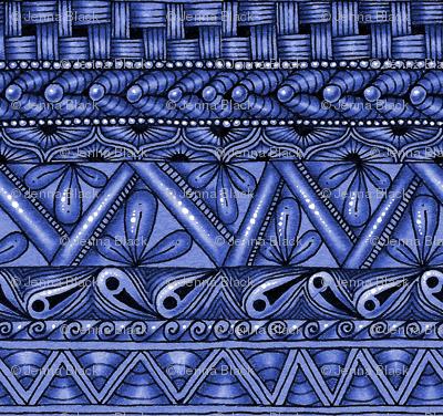 Blue Zen stripes