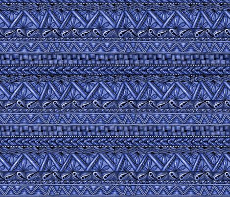 Blue Zen stripes fabric by jennablackzen on Spoonflower - custom fabric