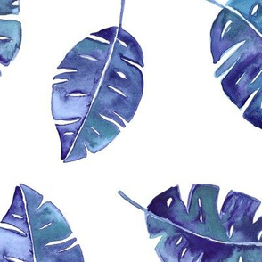 Indigo leaves watercolor
