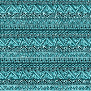 Zen stripes horizontal teal