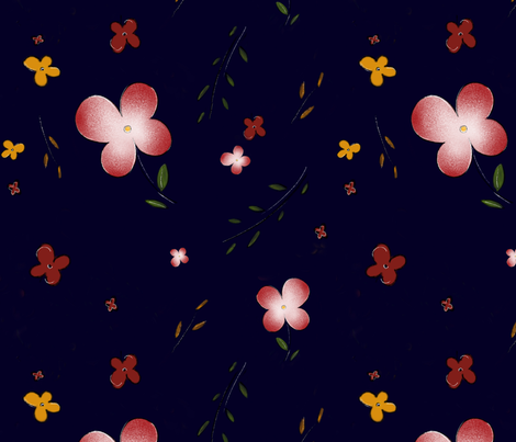 vintage floral  fabric by zhllumimi on Spoonflower - custom fabric