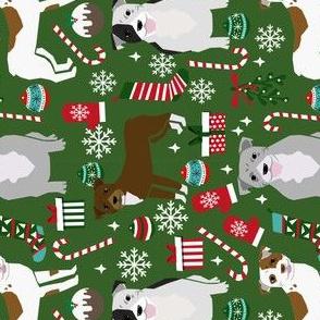 RAILROAD - pitbull dogs fabric cute christmas dogs fabric xmas dog fabric cute xmas fabrics dog design pitbull dogs