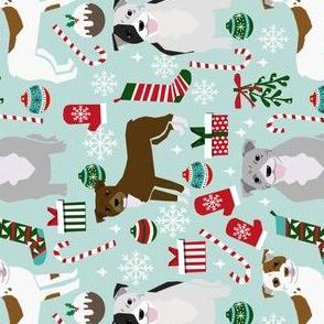 RAILROAD - pitbulls christmas fabric cute dog christmas pitbull terrier fabric pitbull design christmas xmas dog fabric