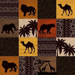 Serengeti Quilt - color - safari wildlife