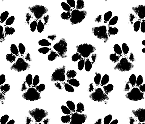 dog paws fabric by b0rwear on Spoonflower - custom fabric