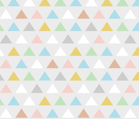 Retro pastel Carnival triangles fabric by mrshervi on Spoonflower - custom fabric