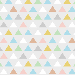 Retro pastel Carnival triangles