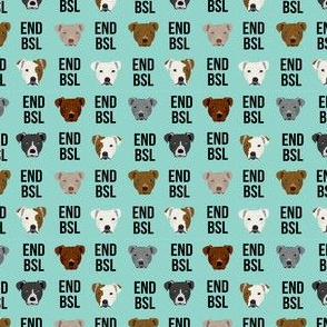 SMALL - end BSL psa pitbull fabric cute staffy, pitty, pibble design