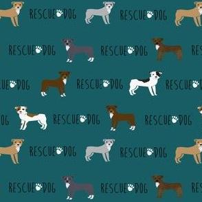 pitbull rescue dog fabric - cute dogs pitty, pibble, dog design
